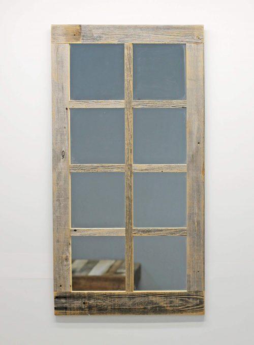 Large Rustic Window Mirror