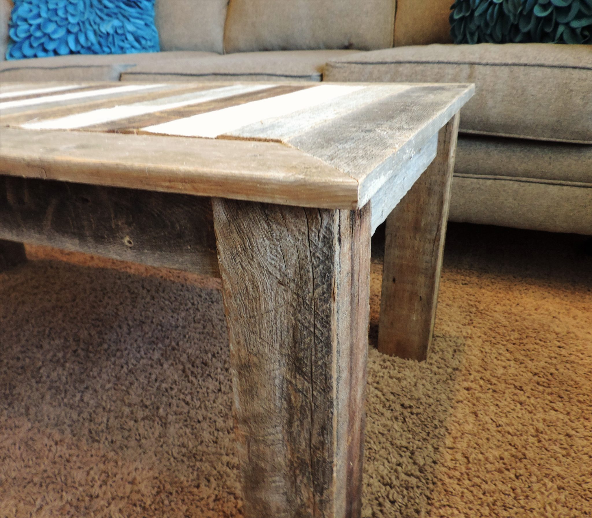 24 In X 48 18 Inbretton Style Reclaimed Wood Rustic Barnwood Coffee Table
