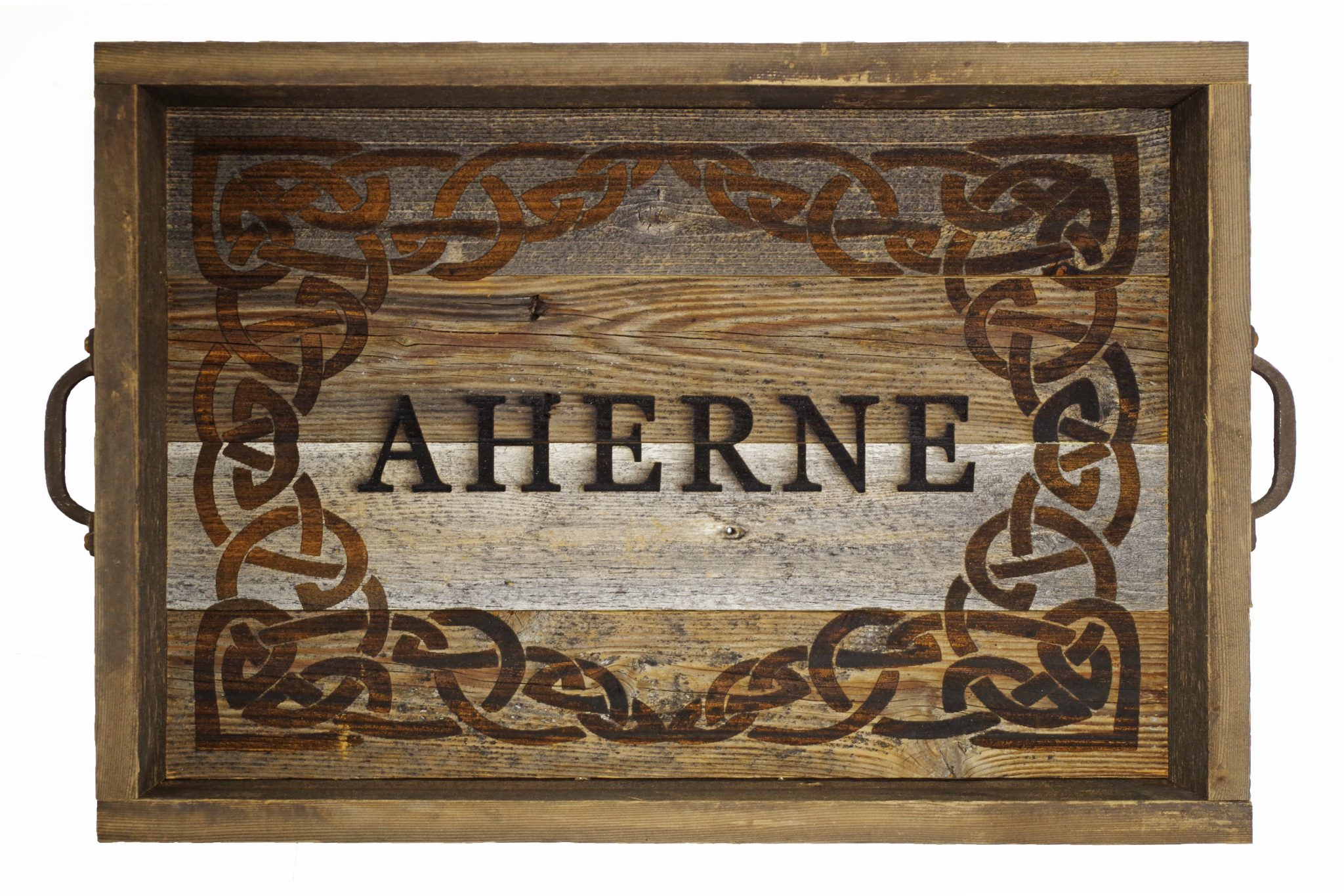 Excellent Wooden Ottoman Tray Top Personalized Serving Tray Rustic Reclaimed Barn Wood Tray Cjindustries Chair Design For Home Cjindustriesco