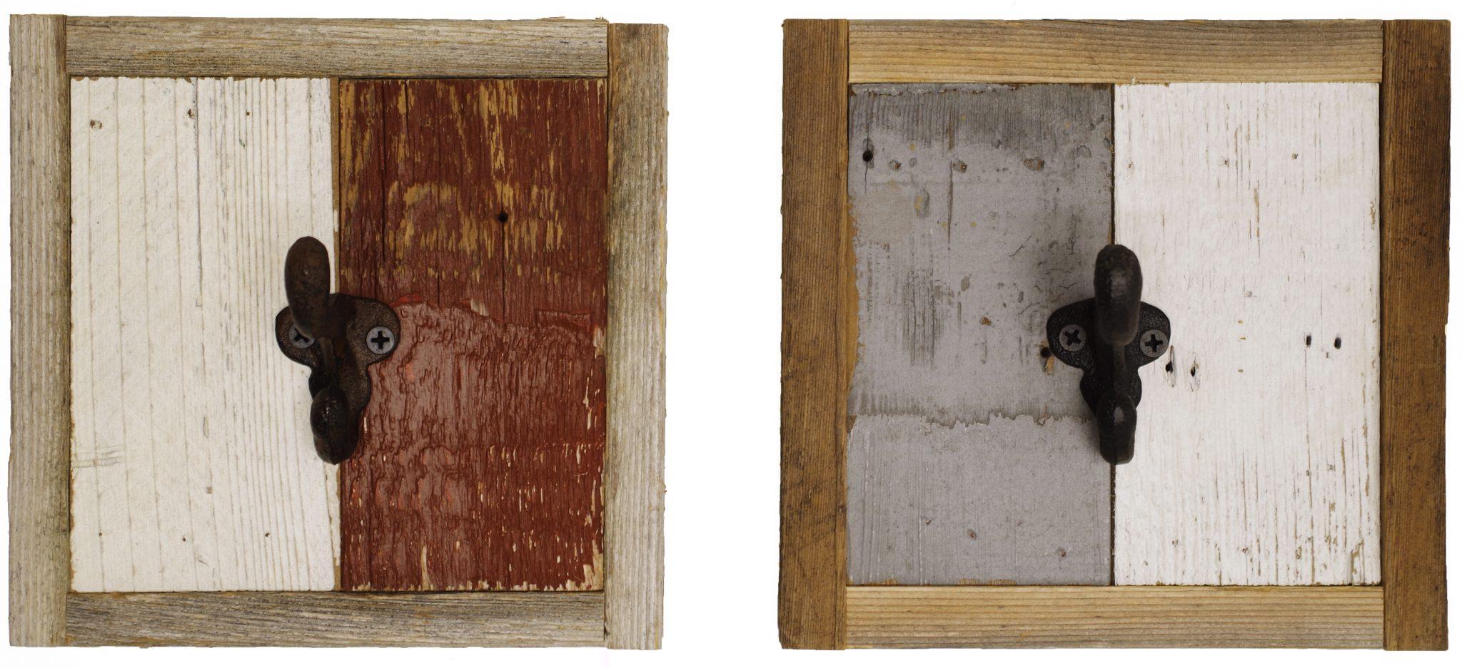 Rustic Wooden Hand Towel Rack 1 Hook Wall Mounted