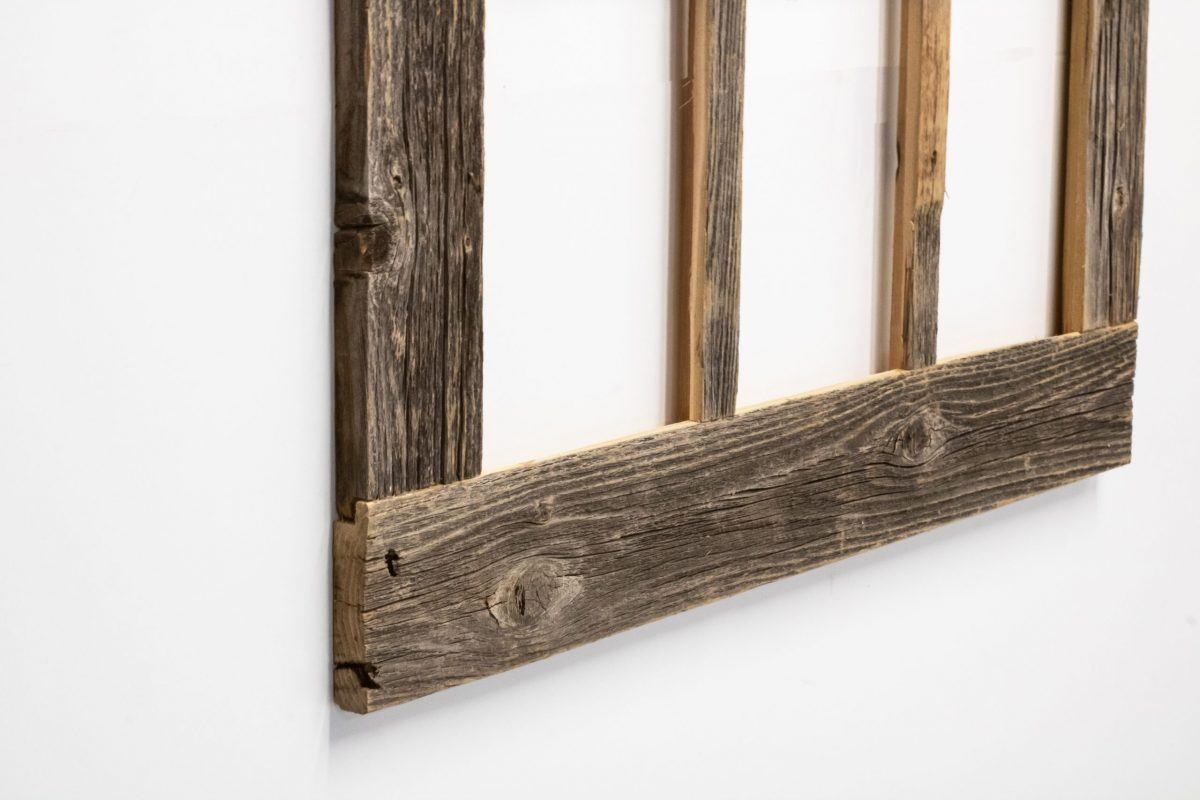Rustic country window mirror