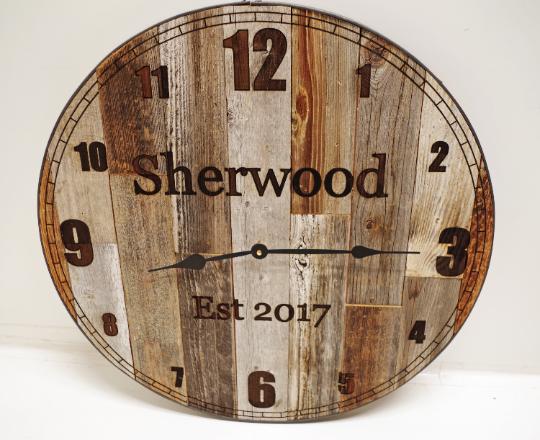 24 Inch Large -inMama Bear-in Rustic Wall Clock * Big Barn