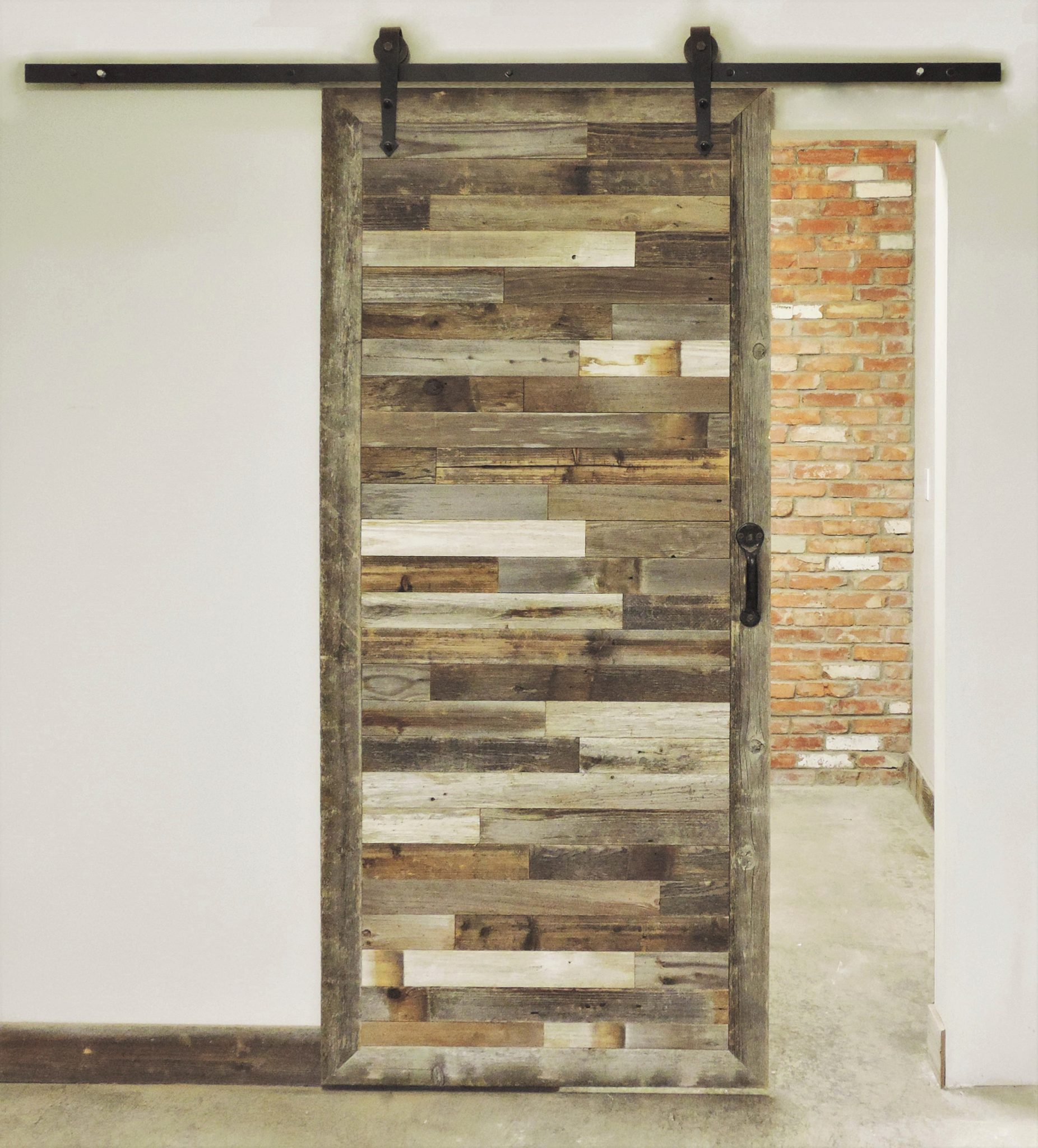 The Inbretton In Style Rustic Reclaimed Wood Sliding Barn Door