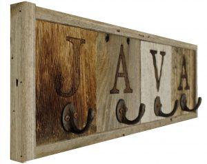 barnwood Java Mug Rack
