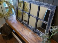 Large Rustic Country Window Mirror