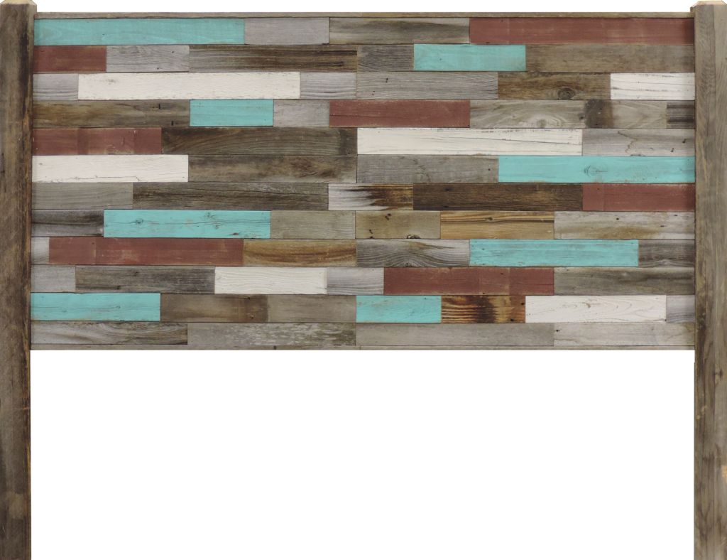 Reclaimed Wood Inrustic Retreat In Headboard For Full Bed