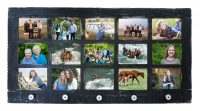 Barn Window Multi Picture Frame 15 opening w/ Knobs