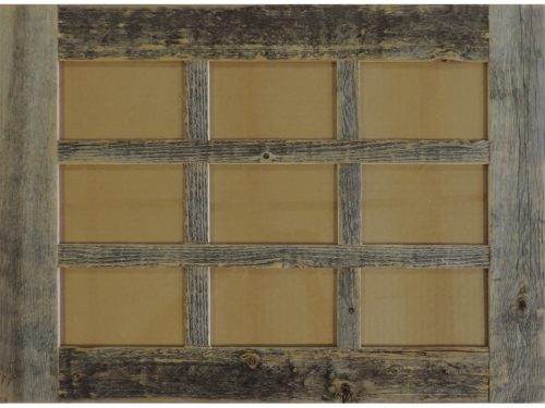 Barn Window Multi Picture Frame 9 opening 4 X 6