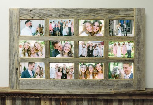 Barn Window Multi Picture Frame 12 opening 4 X 6