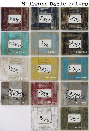 Wood tissue box colors