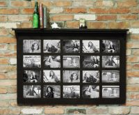 Barn Window Multi-Picture Frame with Shelf