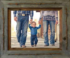 Texas Vaquero Rustic Wood Frame