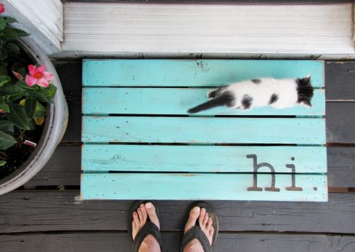 Hi Wooden Doormat