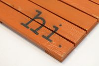 Hi Wooden Doormat Orange