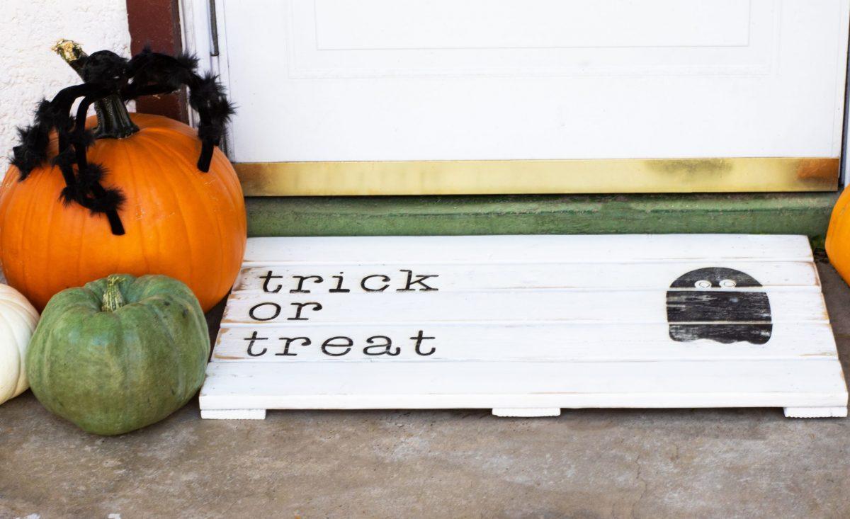 Halloween Wooden Doormat