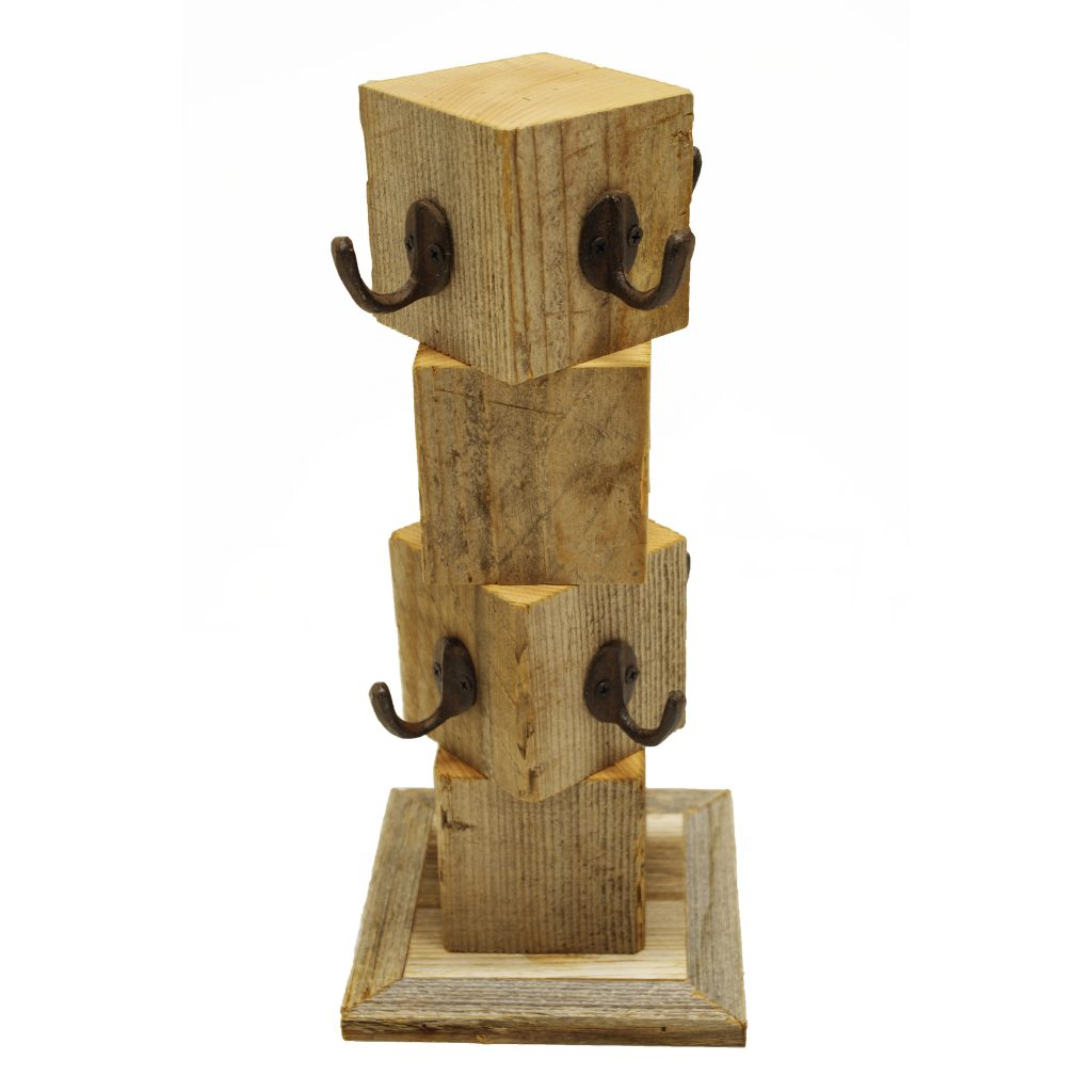 Wooden Mug Tree Display Rack 8 Cup