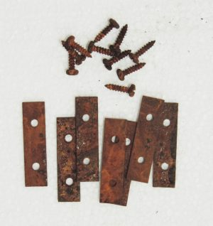 rustic brackets for collage picture frame