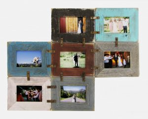 rustic wall picture frame collage