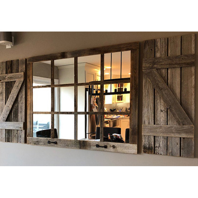 Farmhouse Window with Z Shutters