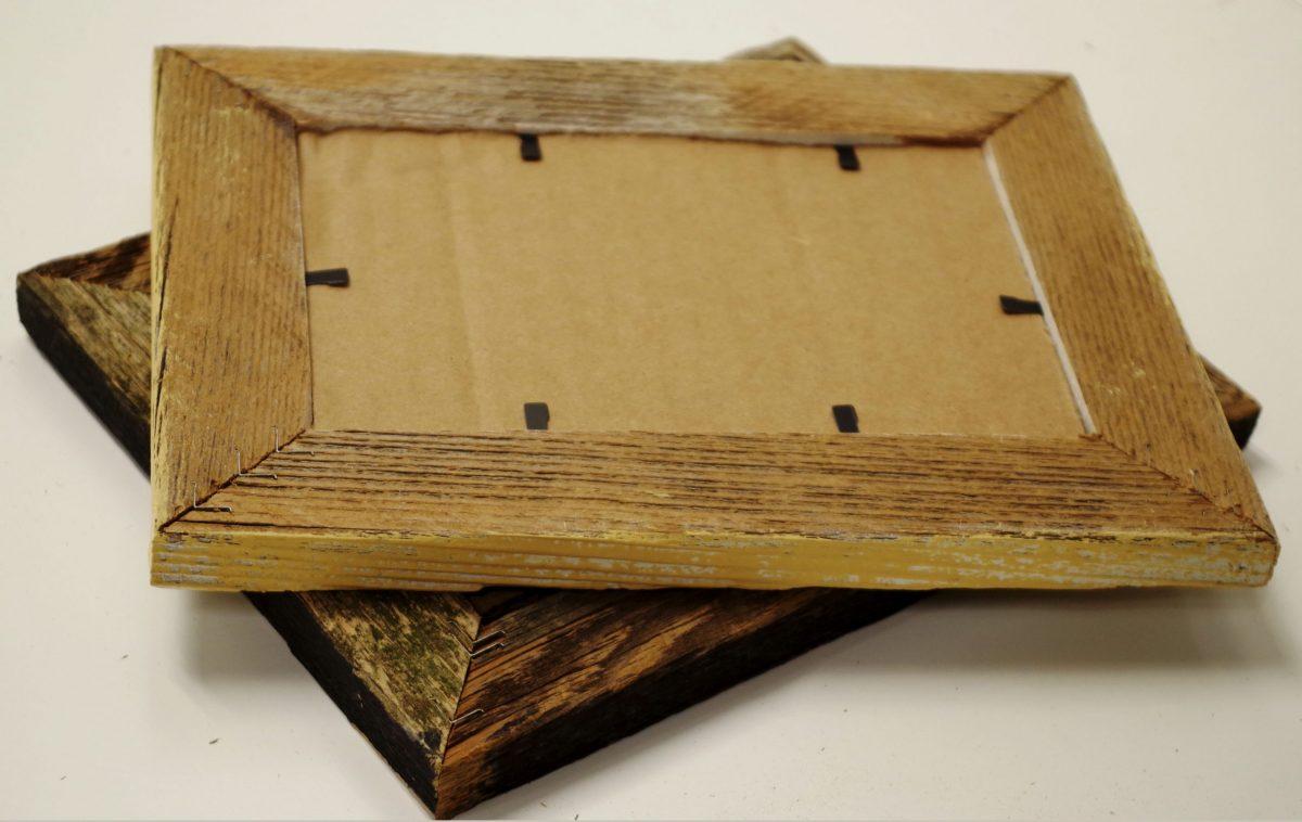 narrow barnwood picture frame